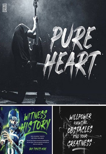 Pure-Heart-Display-Fonts