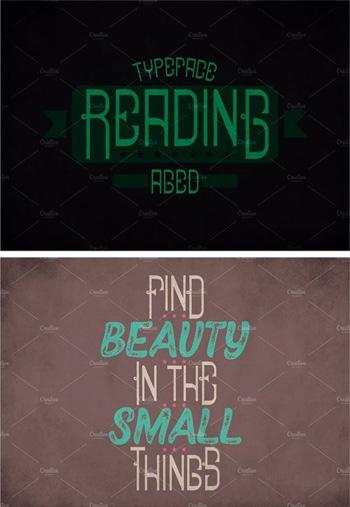 Reading-Vintage-Label-Typef