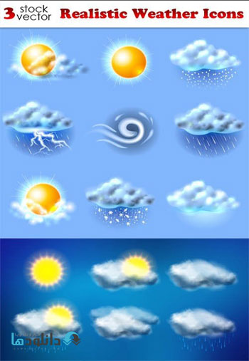 Realistic-Weather-Icons