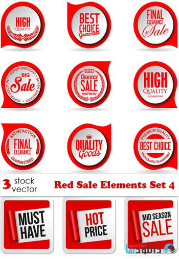 Red-Sale-Elements-Set-4-Vector