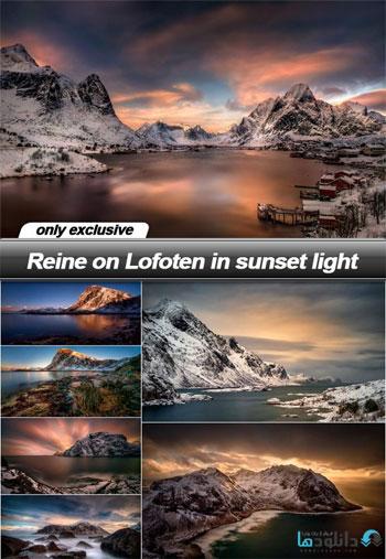 Reine-on-Lofoten-in-sunset-light
