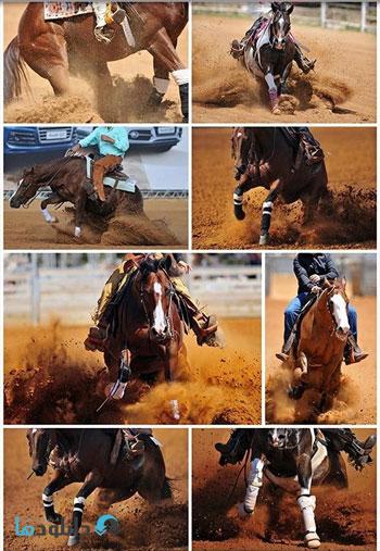 Rider-sliding-the-horse