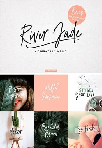 River-Jade,-Signature-Font-