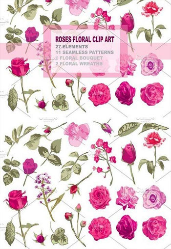 Roses-Floral-Clip-Art