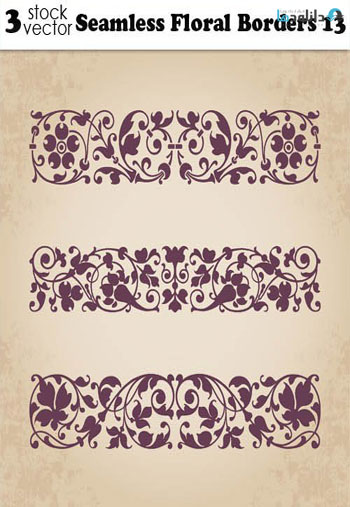 Seamless-Floral-Borders