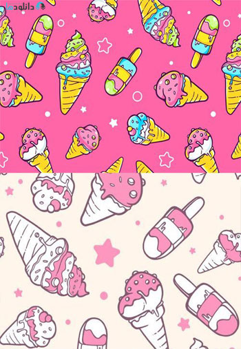 Set-Of-Colorful-Patterns-With-Ice-Creams