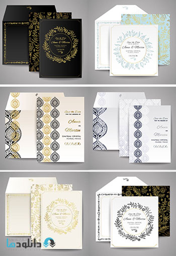 Set-Of-Wedding-Cards-Floral