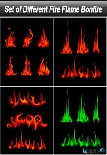 استوک-Set-of-Different-Fire-Flame