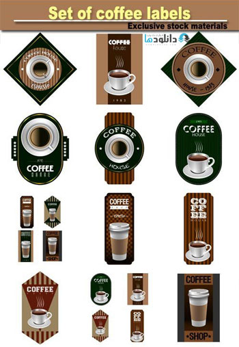 Set-of-coffee-labels