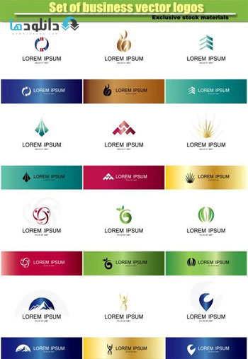 Set-of-different-business-vector-logos