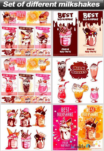 Set-of-different-milkshakes