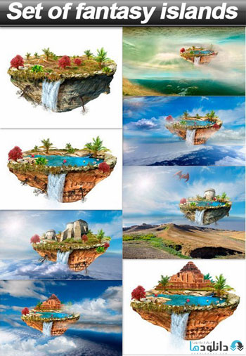 Set-of-fantasy-islands
