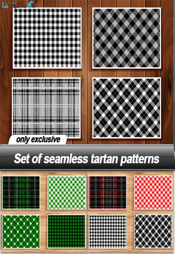 Set-of-seamless-tartan-patterns