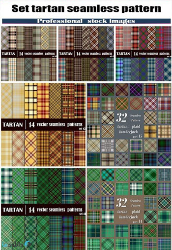 Set-tartan-seamless-pattern