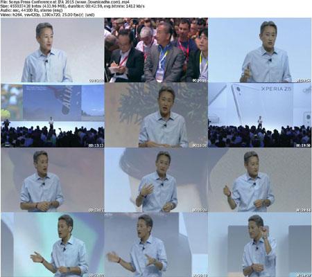 Sonys Press Conference at I دانلود کنفرانس های  نمایشگاه  IFA 2015