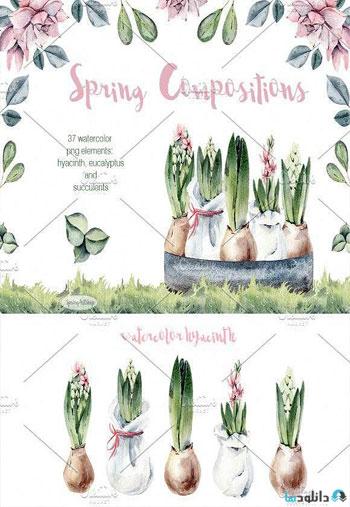 Spring-watercolor-composition