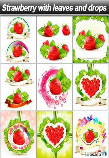 Strawberry-with-leaves
