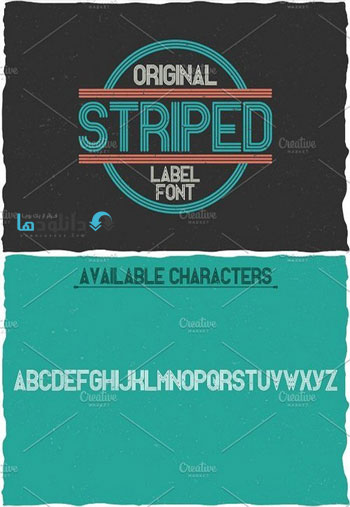 Striped-Vintage-Label-Typeface