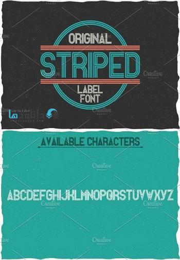 Striped-Vintage-Label-Typeface