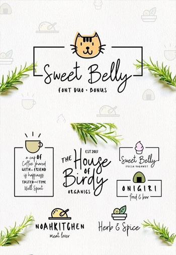 Sweet-Belly-Font-Duo--Bonus