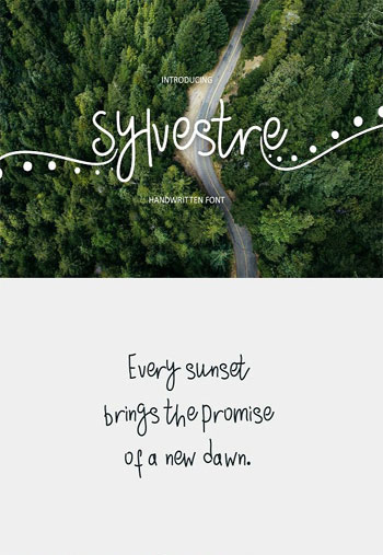 Sylvestre-nature-handwritte