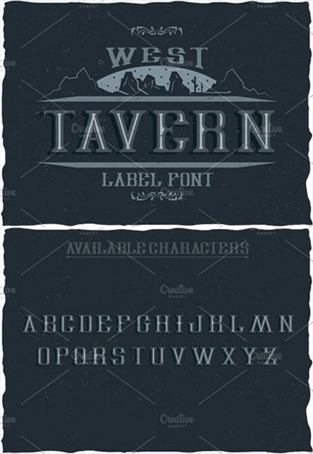 Tavern-Vintage-Label-Typefa