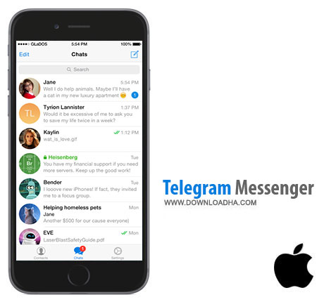 Telegram Messenger  نرم افزار پیام رسان تلگرام  Telegram Messenger V3.0   آیفون و آیپد