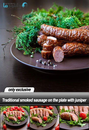 Traditional-smoked-sausage-on-the-plate-with-juniper