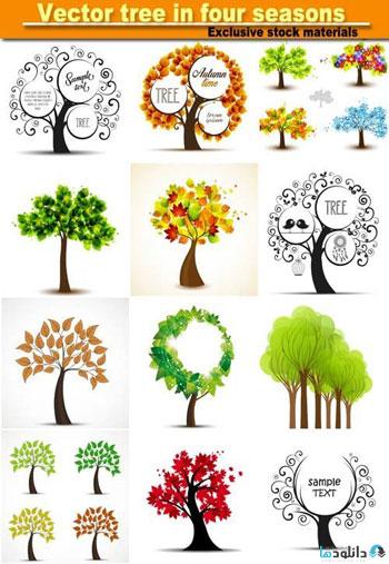Tree-in-four-seasons