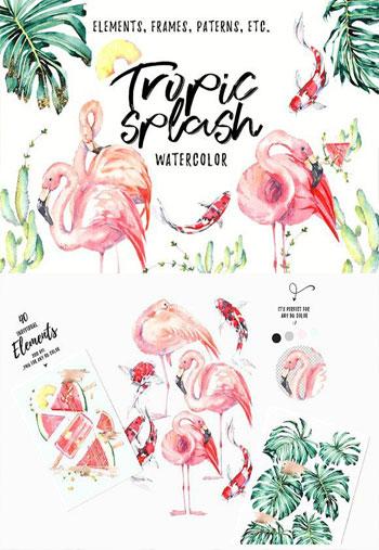 Tropical-Splash-Watercolor