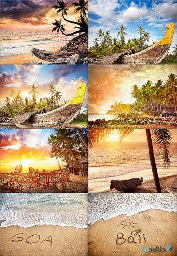 Tropical-sunset-at-Goa-beach