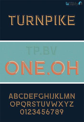 Turnright-Bevel-Font
