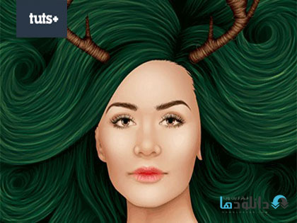 TutsPlus Creative Vector Ha  دانلود ویدیوی آموزش TutsPlus Creative Vector Hair in Illustrator