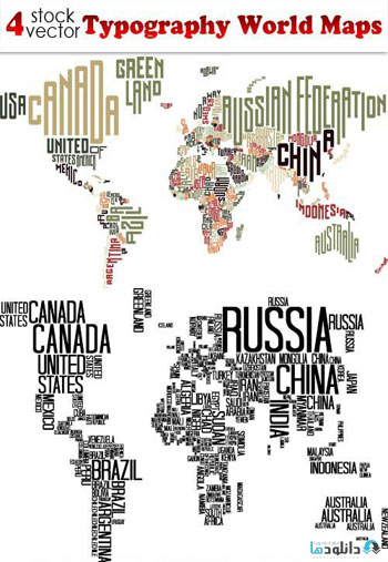 Typography-World-Maps