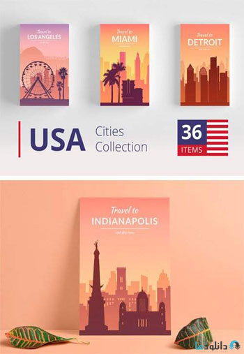 USA-Cities-Landscape-Collection