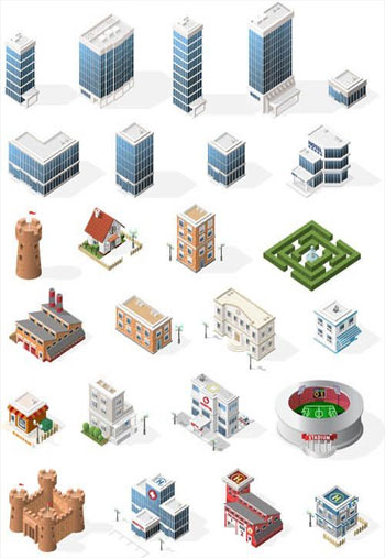 Various-Isometric-Buildings