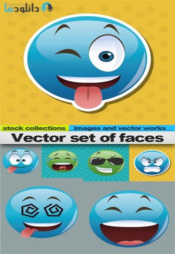 Vector-set-of-faces-Icon