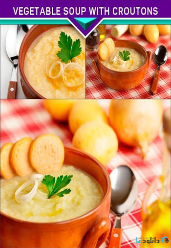 Vegetable-soup-with-croutons-and-fresh-ingredients