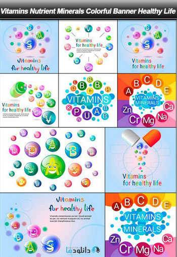 Vitamins-Nutrient-Minerals-Colorful-Banner-Healthy-Life