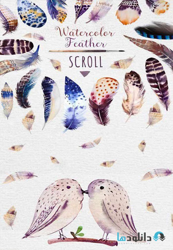 Watercolor-BOHO-feather
