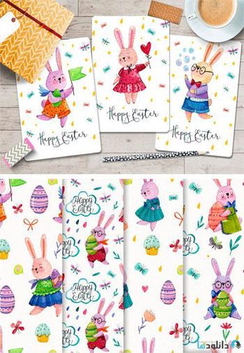 Watercolor-Easter-Rabbits