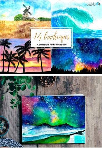 Watercolor-Landscapes-Bundle