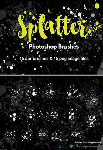 Watercolor-Splatter-Brushes