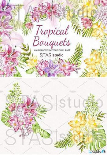 Watercolor-Tropical-Flowers