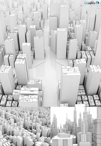 White-3D-Buildings