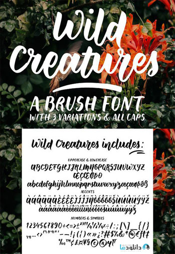Wild-Creatures-a-brush-font