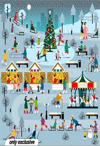 Winter-Christmas-people-set