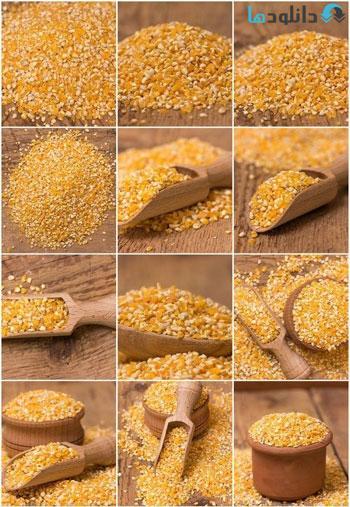 Yellow-corn-grits-Stock