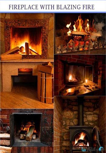 استوک-fireplace-with-blazing-fire