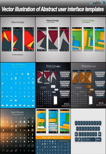 illustration-of-Abstract-user-interface-templates